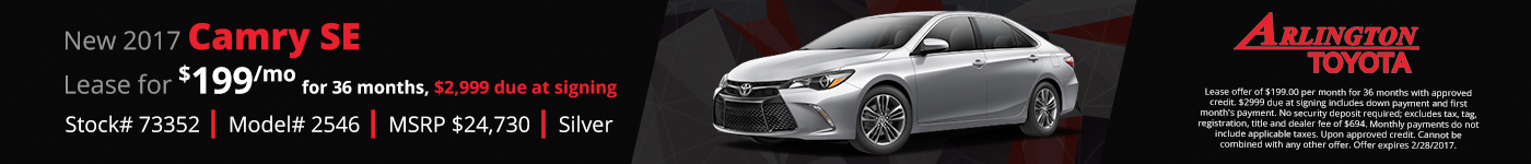 Camry SE Lease Offer