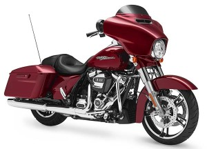For 2017, the Milwaukee-Eight 107 (107 cubic inches, 1,750cc) with precision oil cooling will power the the Street Glide, Street Glide Special (shown above), Road Glide, Road Glide Special, Electric Glide Ultra Classic, Road King and Freewheeler models.
