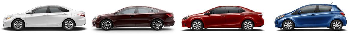 Toyota Sedan Lineup