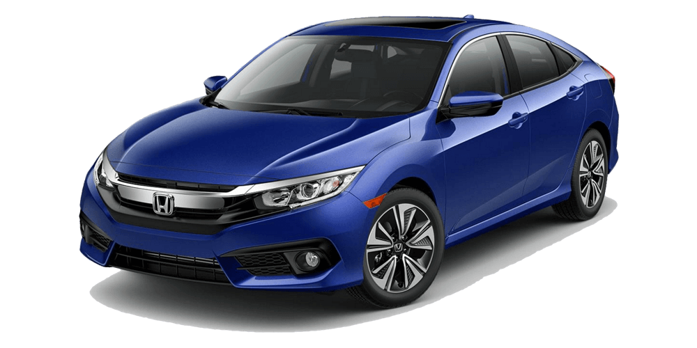 2017 Honda Civic EX-L blue exterior model