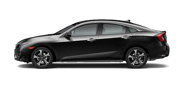 2017 Honda Civic Touring black exterior model side view