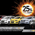 25% off MSRP - July 2016