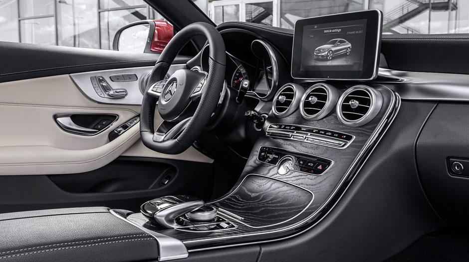 C-Class coupe interior