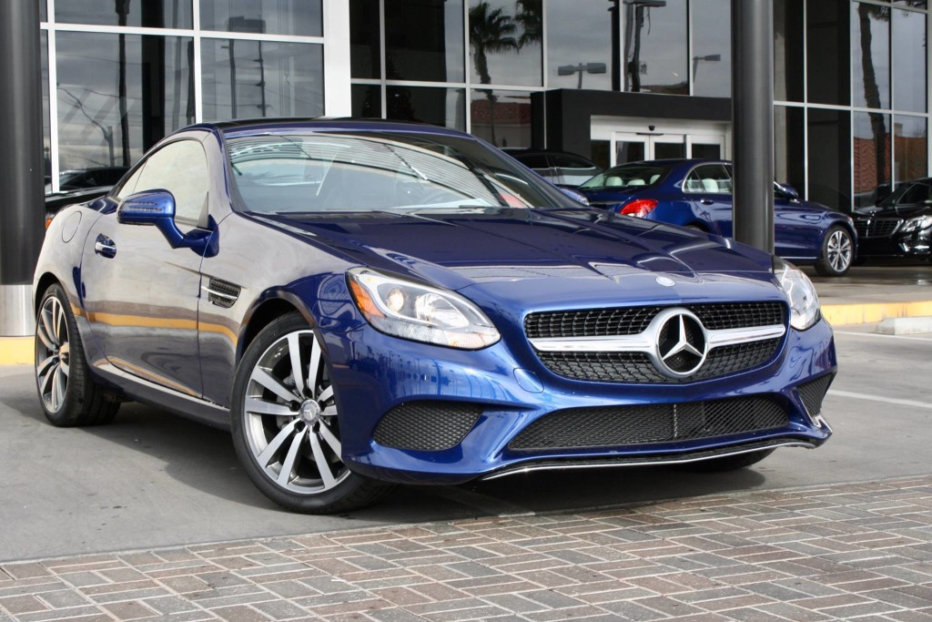 Blue 2017 Mercedes-Benz SLC