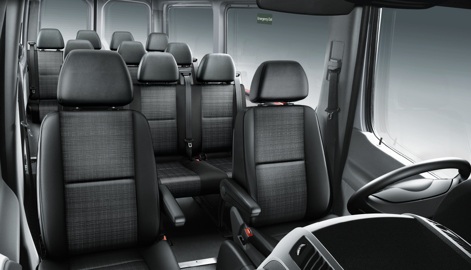 step inside the 2017 mercedes benz sprinter passenger van