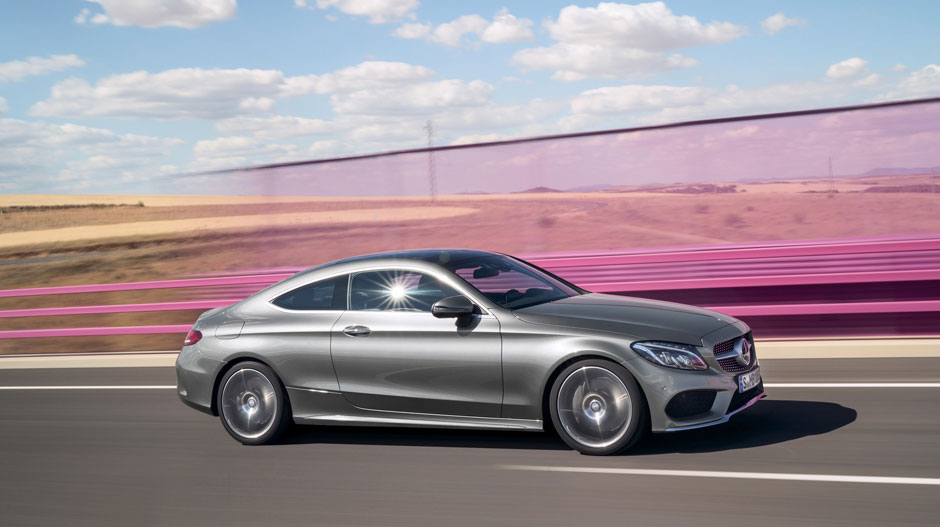 C-Class Coupe driving