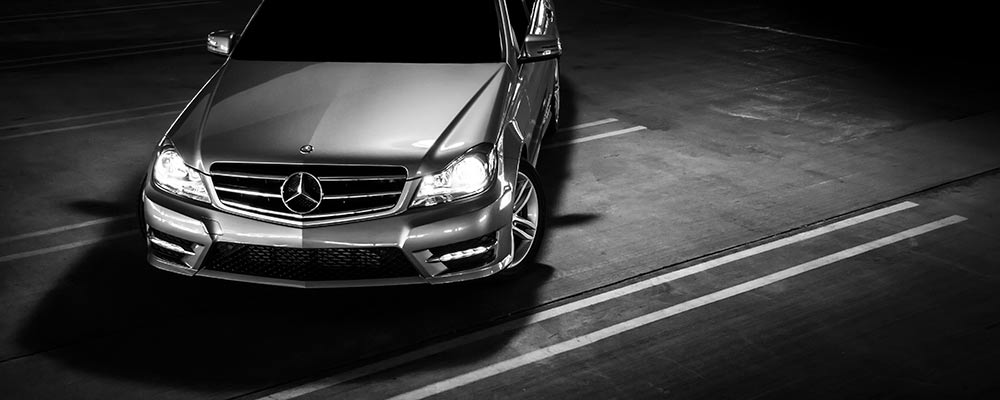 Parked Mercedes