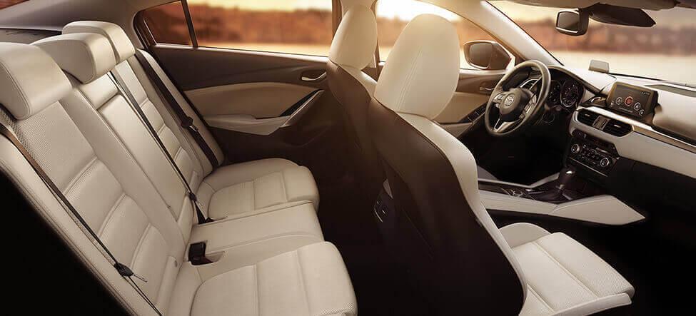 2015 Mazda5 tan seat sunset