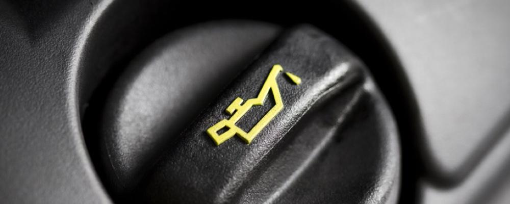Oil cap on the car engine