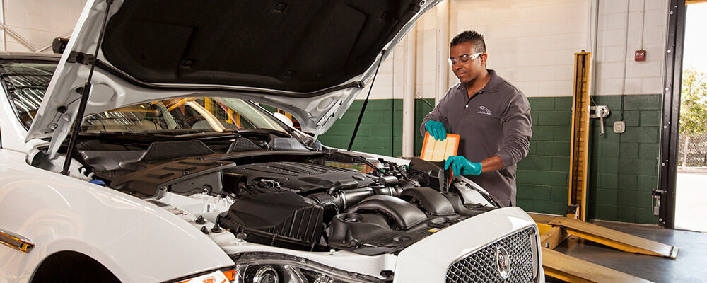 Jaguar Filter Service Bay