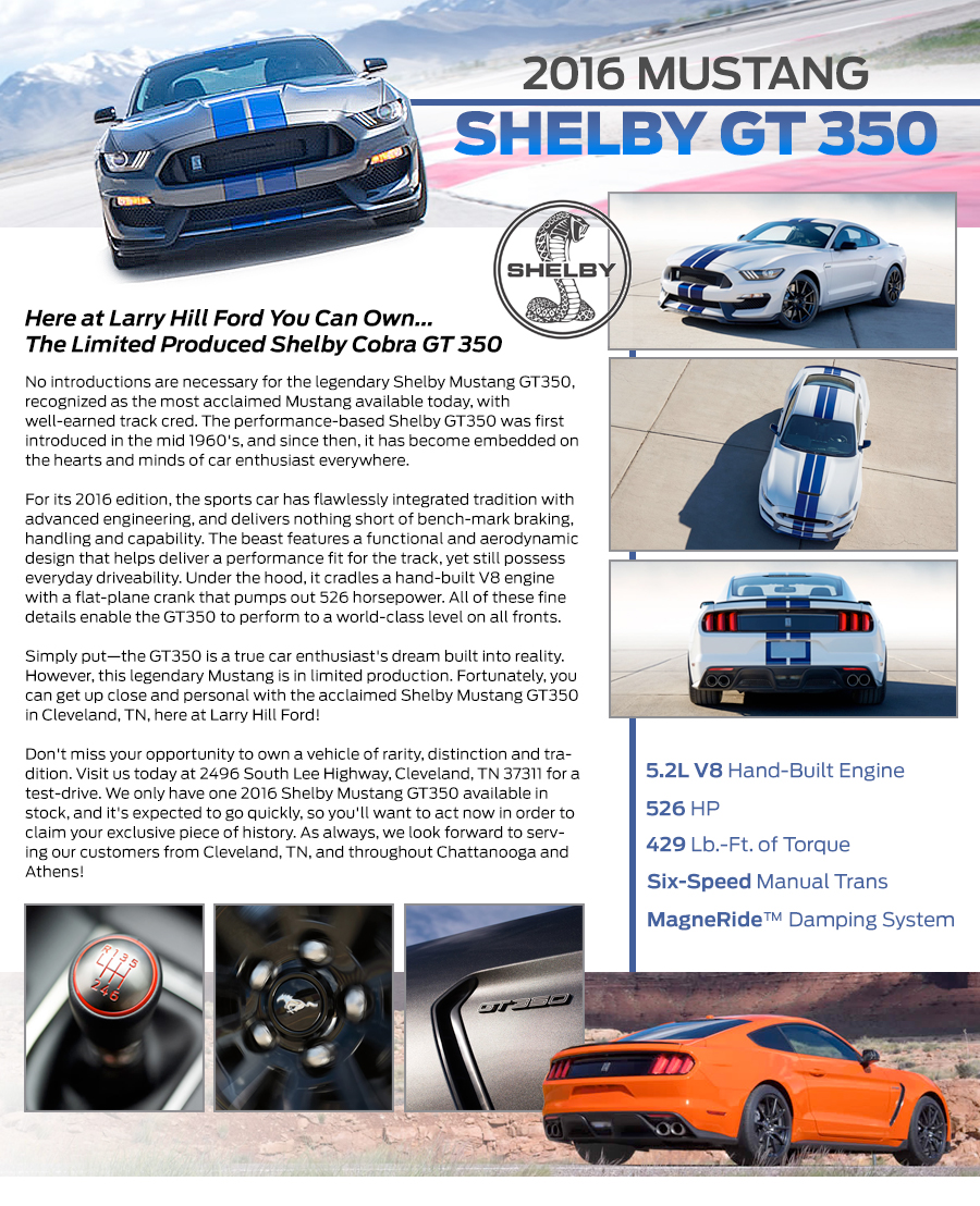 2016 Shelby Mustang GT350 For Sale | Cleveland TN | Serving Chattanooga & Athens
