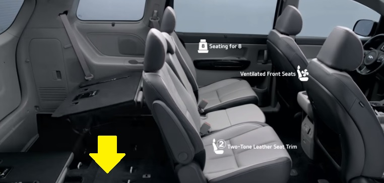 2016 Kia Sedona Fold-In-Floor Seats