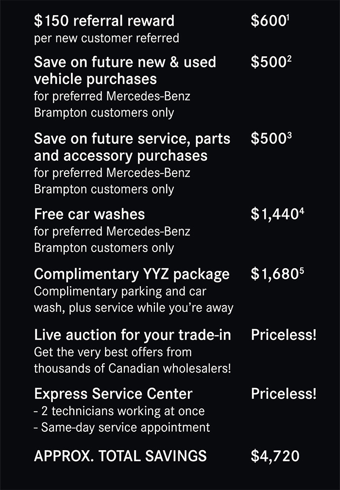 Mercedes-Benz Brampton Benefits