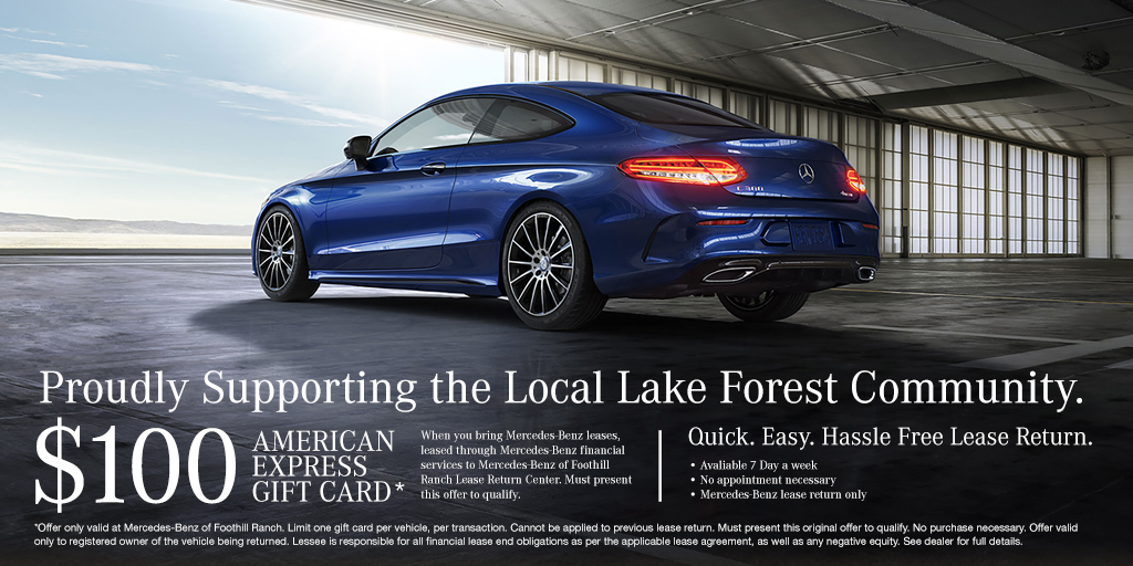 Mercedes benz of foothill ranch new used cars for Mercedes benz lease return