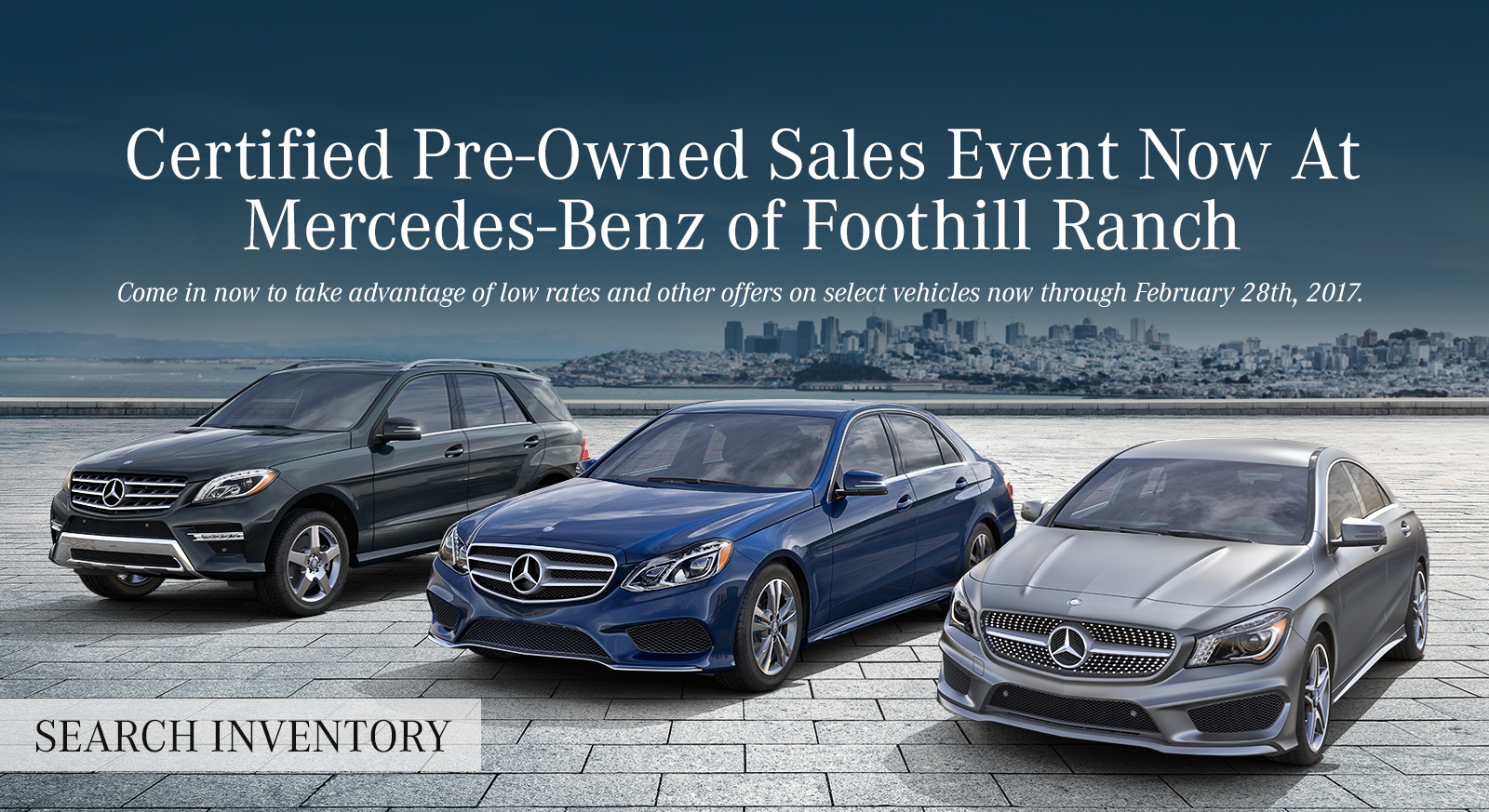 Mercedes benz of foothill ranch new used cars for Mercedes benz certified pre owned sales event