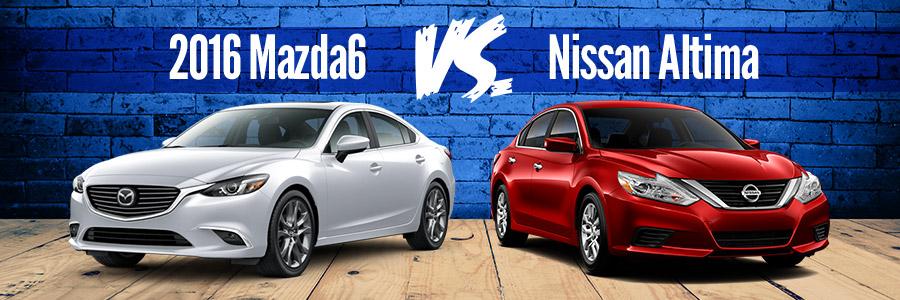 2016 Mazda6 vs Nissan Altima - Momentum Mazda in Gastonia
