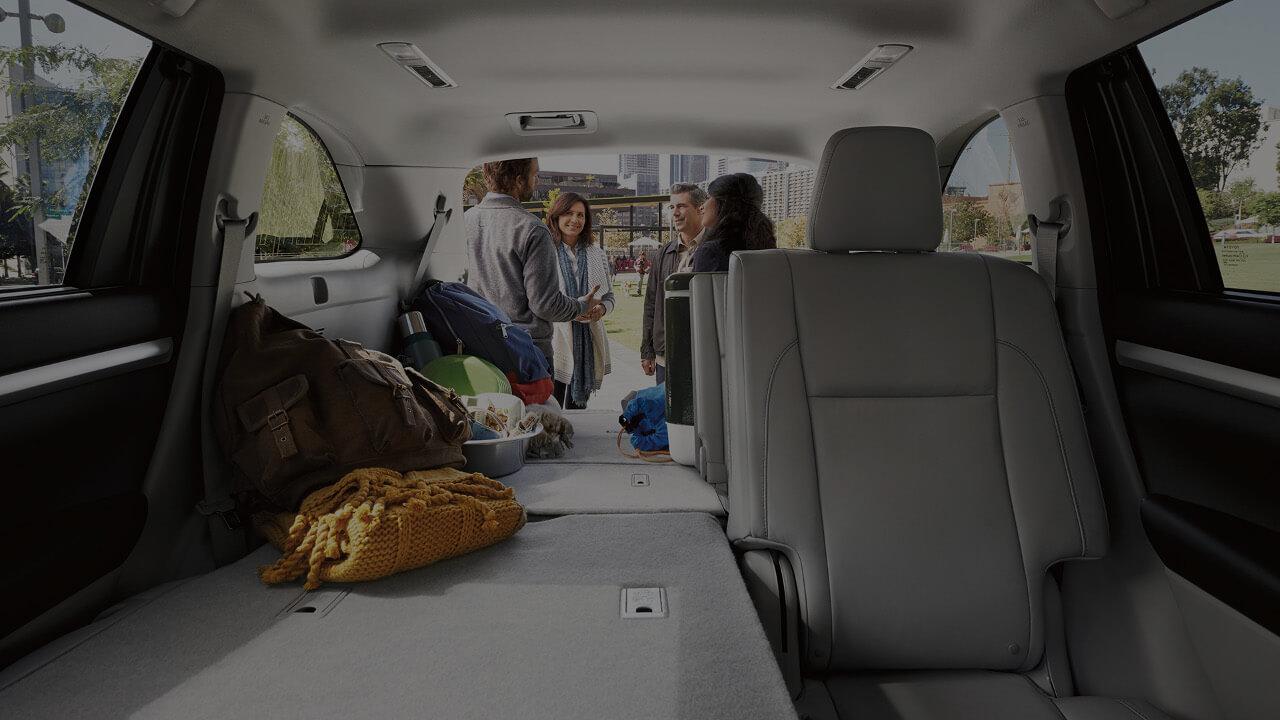 2017 Toyota Highlander cargo space