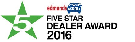 Edmunds 5 Star Dealer Award 2016
