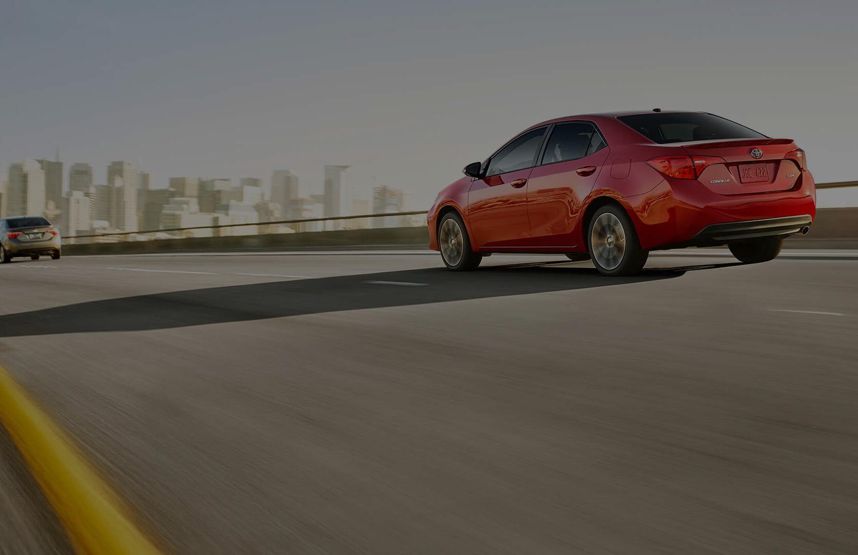 2017 Toyota Corolla on road