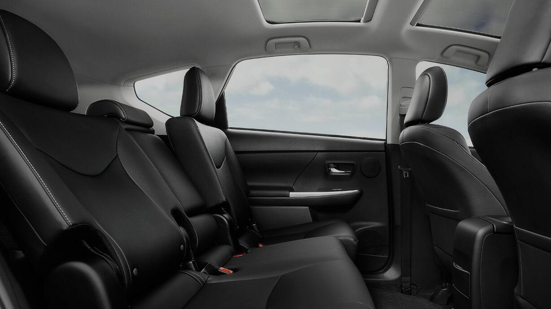 2017 Toyota Prius v rear seats