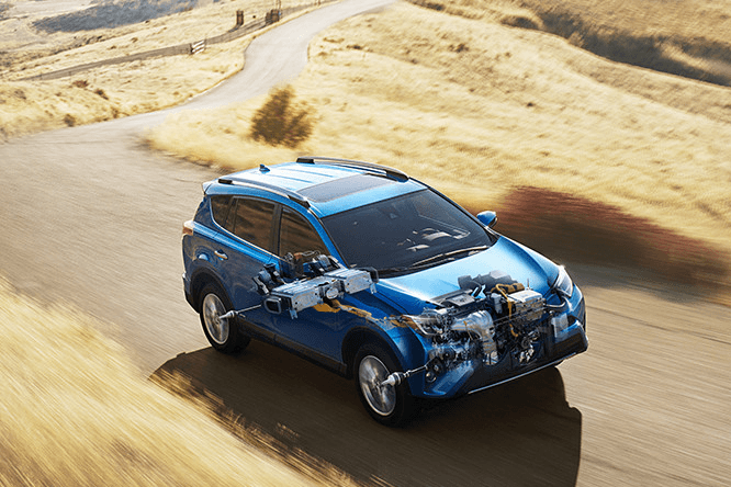Toyota RAV4 Hybrid on road