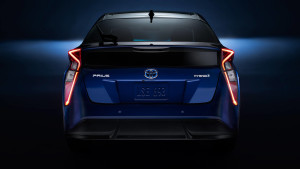 2016 Toyota Prius viewed from behind
