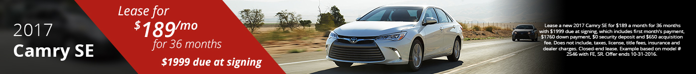 Camry Lease Offer