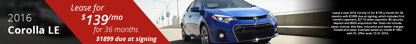 Corolla Lease Offer
