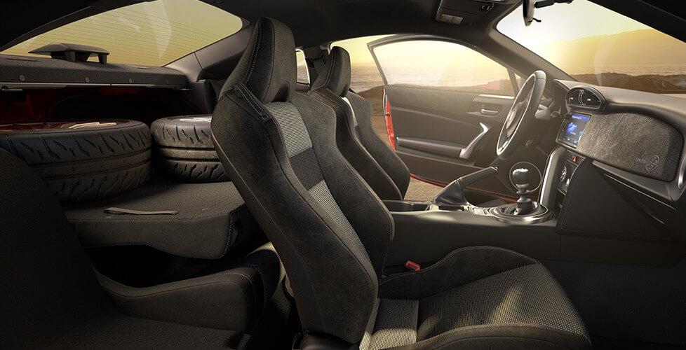 2017 Toyota 86 Folding Rear Seats