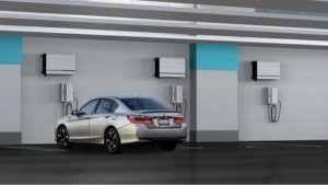 Honda Develops Solar Power Compatible Electric Vehicle Charger