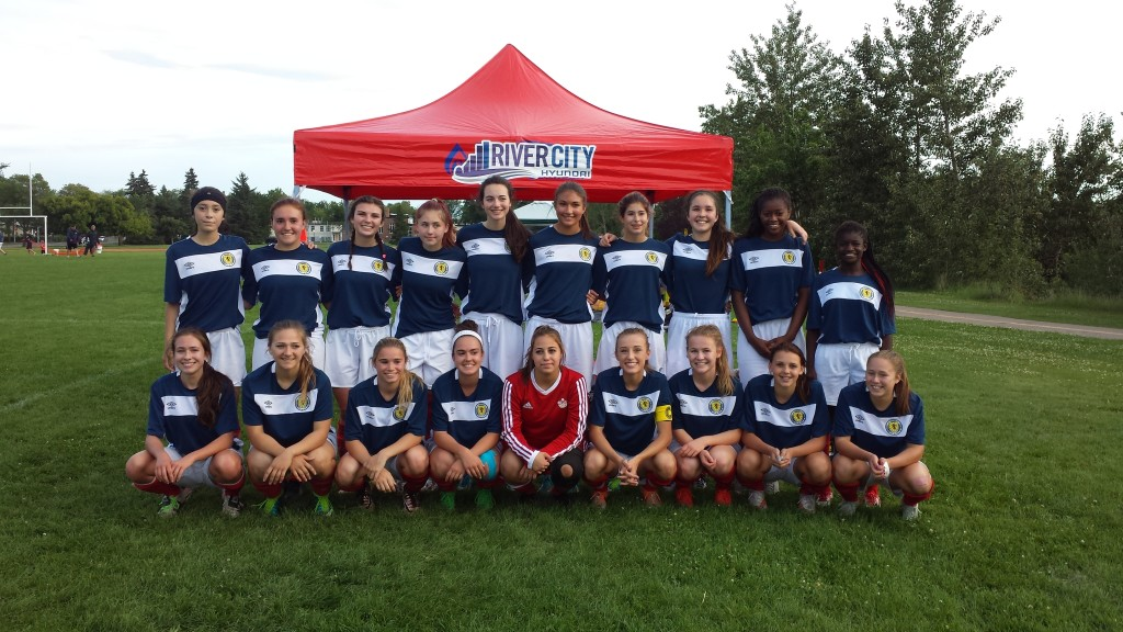U16 Scottish girl soccer team