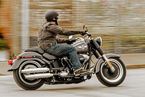 2016 Softail Fat Boy Lo with rider