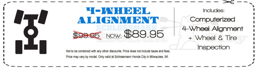 Wheel Alignment Service Milwaukee and Waukesha Wisconsin | Schlossmann Honda City