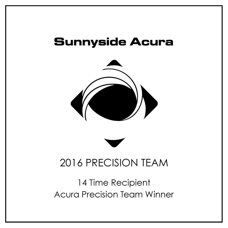 2017 Acura Precision Team Dealership of Distinction Award Winner Sunnyside Acura Nashua, NH