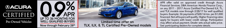 Acura TLX, ILX, TL Certified Pre-Owned APR Offer
