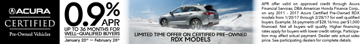 Acura RDX Certified Pre-Owned APR Offer