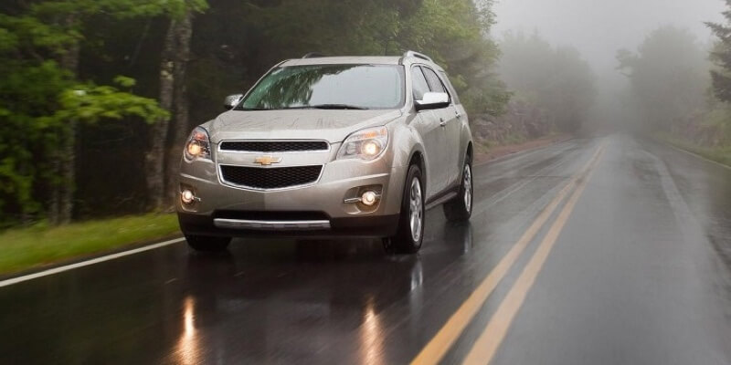2015 Chevrolet Equinox LTZ driving in the rain