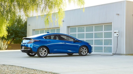 Bright blue 2016 Chevrolet Volt