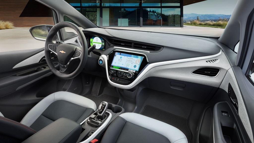 2017 Chevrolet Bolt front interior features