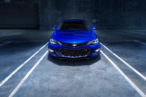 2017 Chevrolet Cruze blue exterior model front view