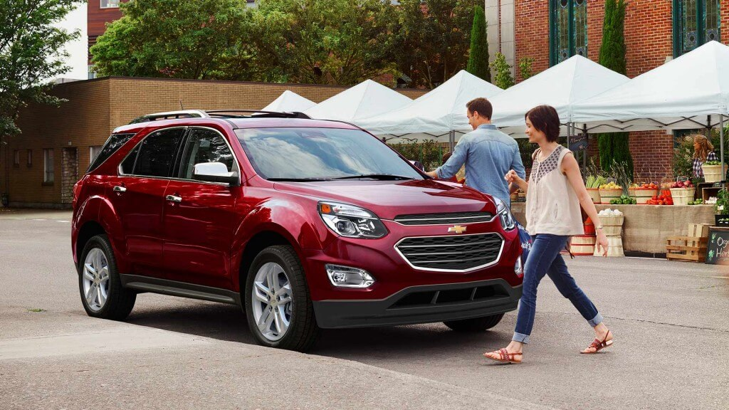 2017 Chevrolet Equinox red exterior model