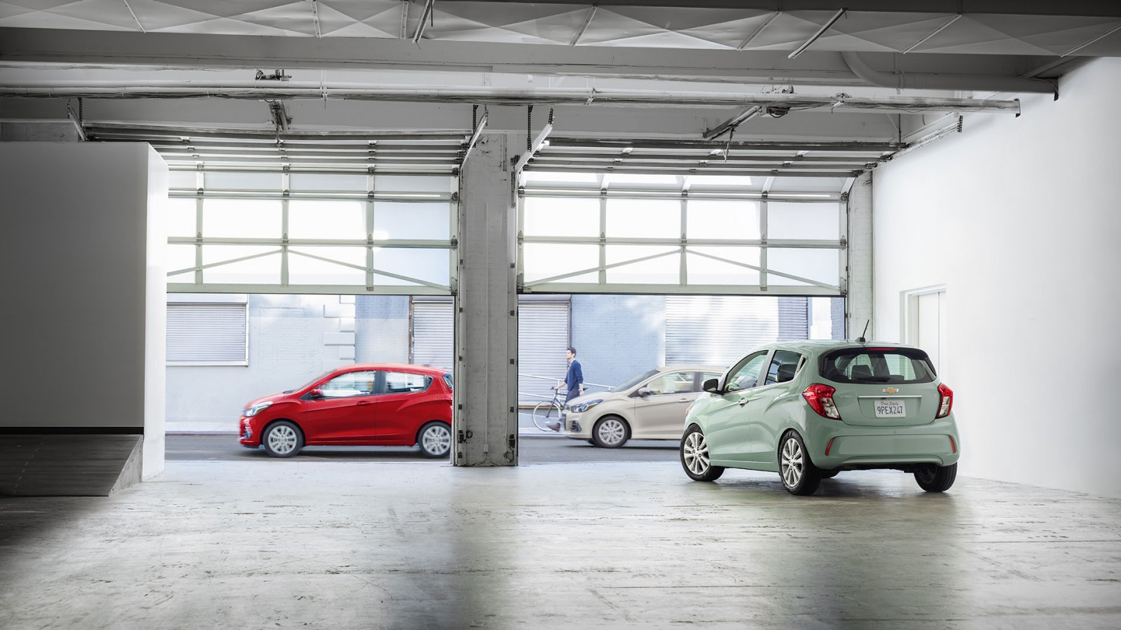 2017 Chevrolet Spark red and green exterior models