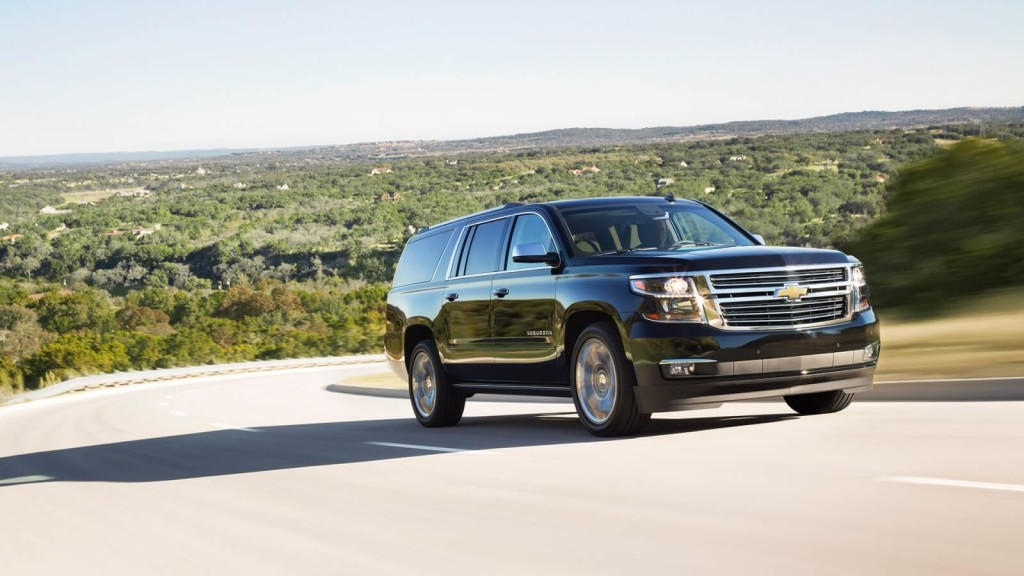 2017 Chevrolet Suburban on the road