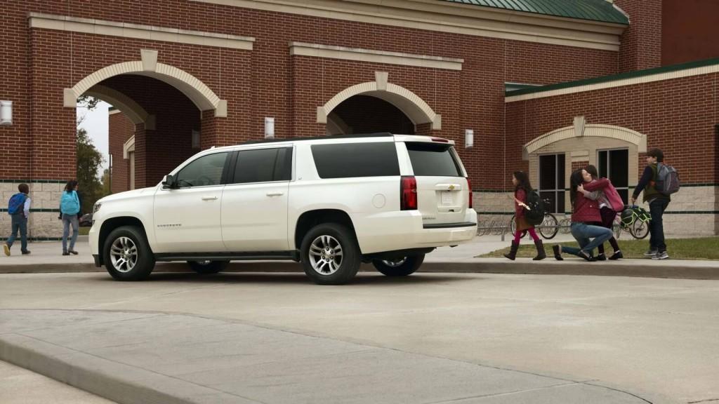 2017 Chevrolet Suburban white exterior model