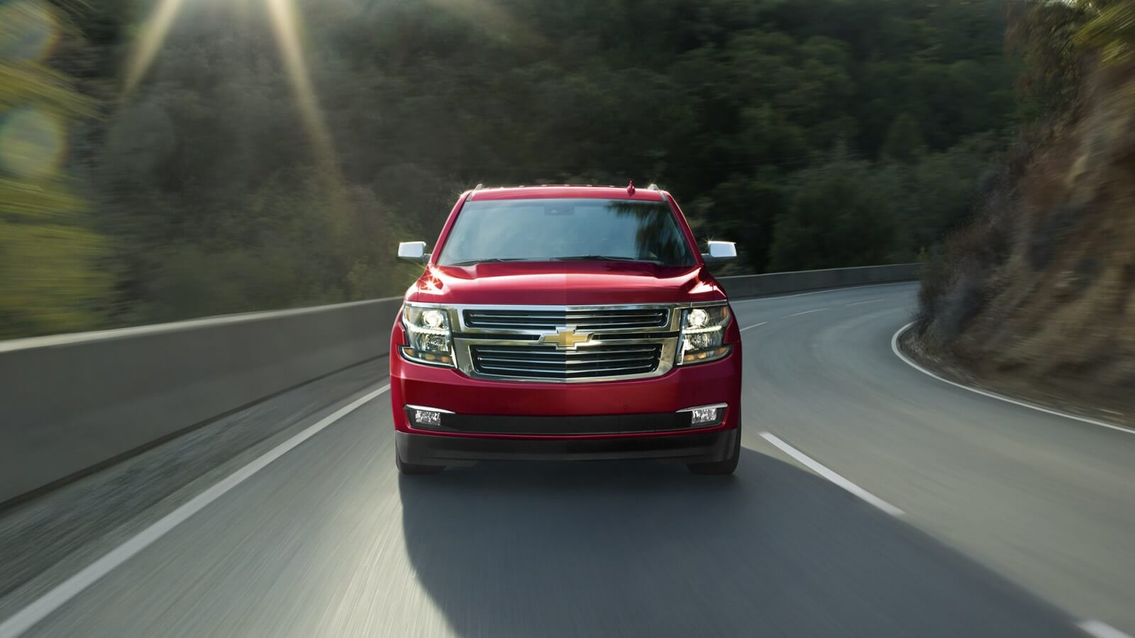 2017 Chevrolet Tahoe front view red exterior
