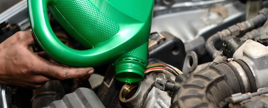 Green oil  bottle