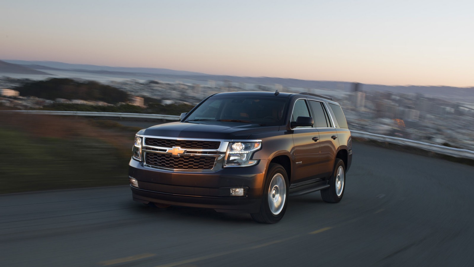 2016 Chevrolet Tahoe on the road