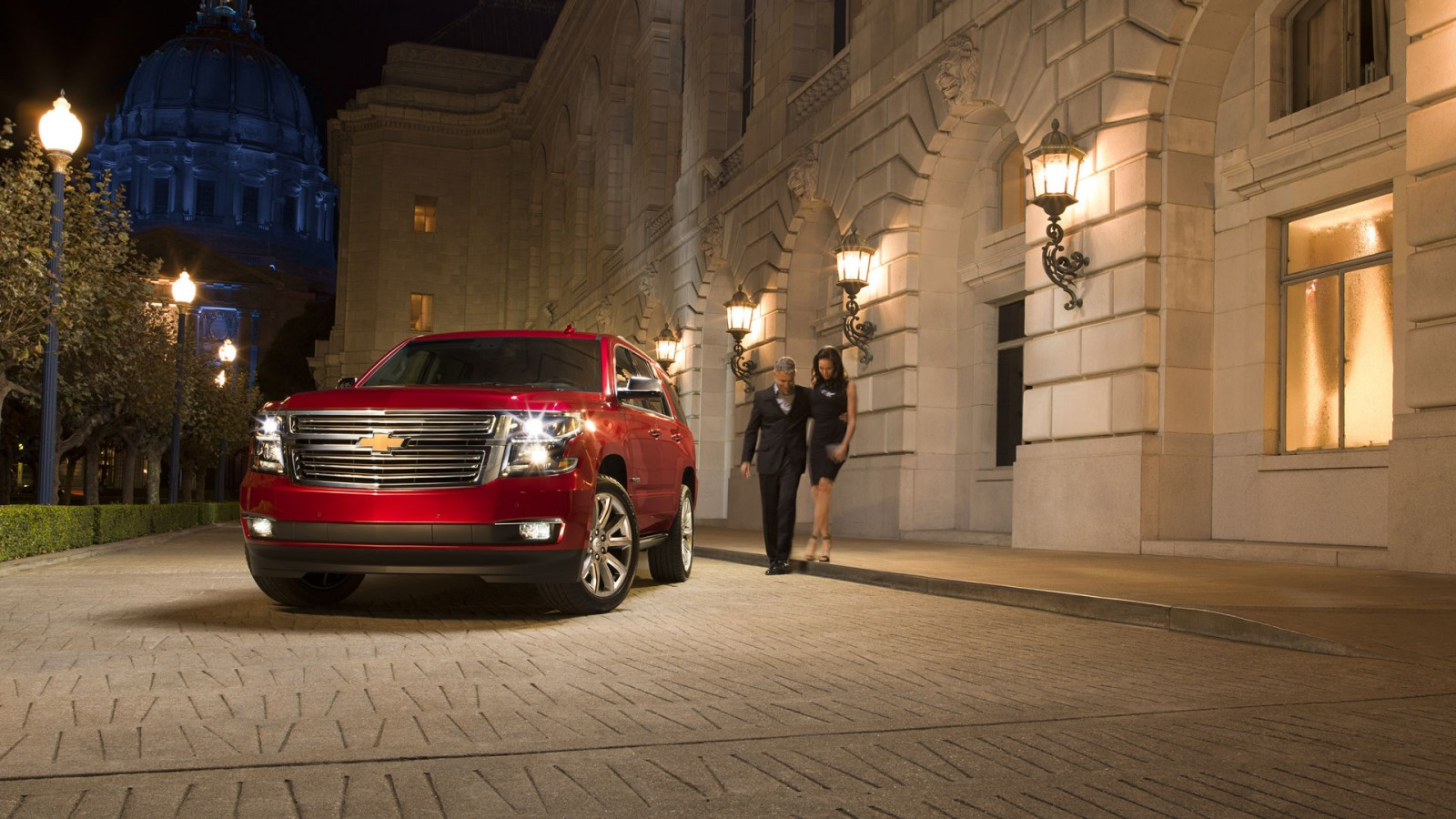 2016 Chevrolet Tahoe red exterior
