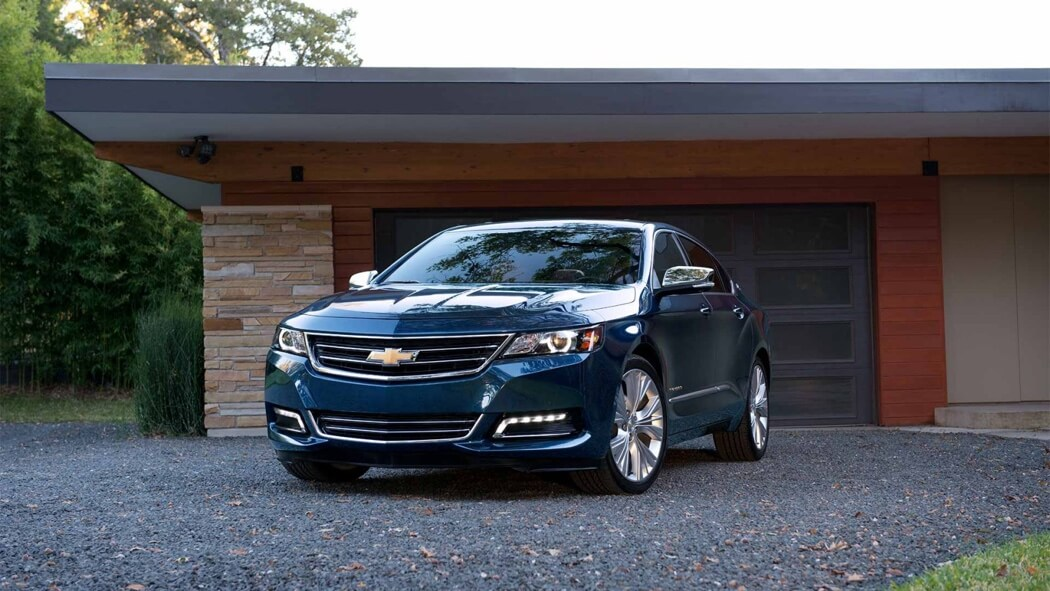 2017 Chevrolet Impala front view, blue exterior model