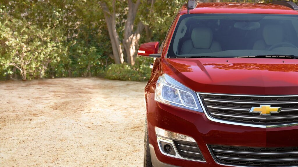 2017 Chevrolet Traverse front exterior up close